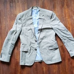 Zara Man Gray Plaid Suit Jacket